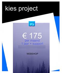 webshop € 175 per maand